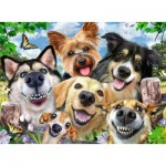 Puzzle  Ravensburger-16425 Selfies Dogs' Delight