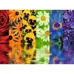 Puzzle  Ravensburger-16446 Reflets Floraux