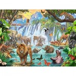 Puzzle  Ravensburger-16461 Cascade dans la Jungle