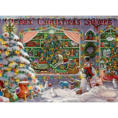 Puzzle Ravensburger-16534 Merry Christmas Shoppe