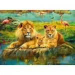 Puzzle  Ravensburger-16584 Lions dans la Savanne