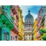 Puzzle  Ravensburger-16618 Cuba Coloré