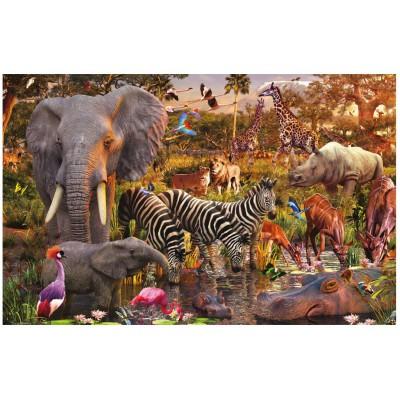 Puzzle Ravensburger-17037 Animaux du continent africain