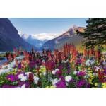 Puzzle  Ravensburger-17061 Montagnes Fleuries