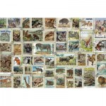 Puzzle  Ravensburger-17079 Timbres Animaliers