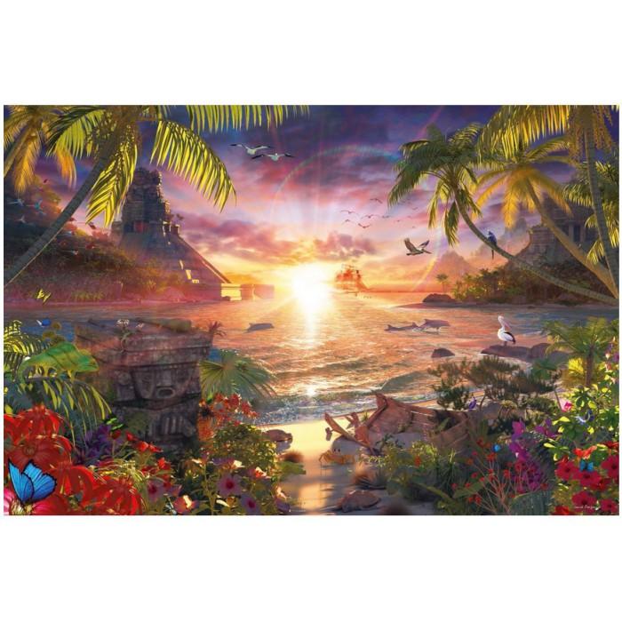 Paradis au Soleil Couchant