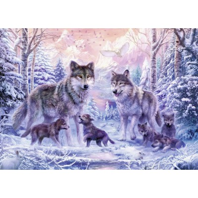 Puzzle Ravensburger-19146 Loups Arctiques