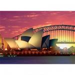 Puzzle  Ravensburger-19211 Australie, Sydney : l'Opéra et le Harbour Bridge
