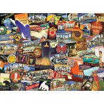 Puzzle  Ravensburger-19212 Road Trip USA