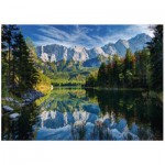 Puzzle  Ravensburger-19367 Allemagne, Lac Eibsee