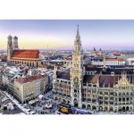 Puzzle  Ravensburger-19426 Vue de Munich