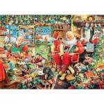 Puzzle  Ravensburger-19558 Les Derniers Préparatifs Du Père Noël