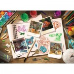 Puzzle  Ravensburger-19603 Disney Pixar: Sketches