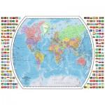 Puzzle  Ravensburger-19633 Carte du Monde Politique