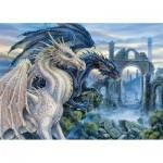 Puzzle  Ravensburger-19638 Dragons Mystiques