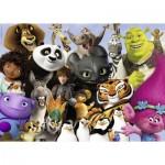 Puzzle  Ravensburger-19693 Famille DreamWorks