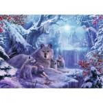 Puzzle  Ravensburger-19704 Loups d'Hiver