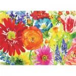 Puzzle  Ravensburger-19729 Fleurs Abondantes