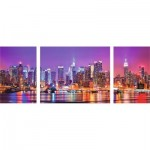 Puzzle  Ravensburger-19792 Triptyque New York
