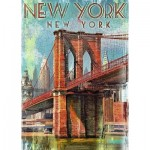 Puzzle  Ravensburger-19835 Retro New York