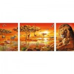 Puzzle  Ravensburger-19836 Impressions Africaines