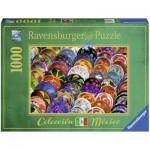 Puzzle  Ravensburger-19841 Plats Colorés