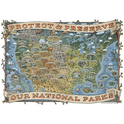 Puzzle Ravensburger-19859 Protect & Preserve our National Parks