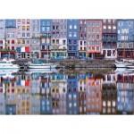 Puzzle  Ravensburger-19867 Reflets sur le Port de Honfleur
