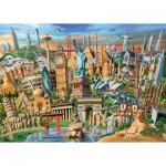 Puzzle  Ravensburger-19890 Monuments du Monde