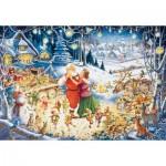 Puzzle  Ravensburger-19893 La Fête du Père Noël