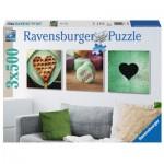 Ravensburger-19921 3 Puzzles - Désir de Coeur