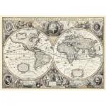 Puzzle  Ravensburger-19931 Do it Yourself - Carte du Monde Antique