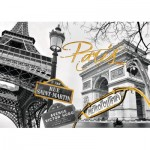 Puzzle  Ravensburger-19935 Do it Yourself - Paris en Or
