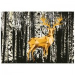 Puzzle  Ravensburger-19936 Do it Yourself - Cerf dans la Forêt