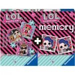 Ravensburger-20549 Multipack - Memory et 3 Puzzles - Lol Surprise