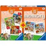 Ravensburger-20676 Multipack - Memory et 3 Puzzles - 44 Cats