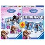 Ravensburger-22311 La Reine des Neiges 3 Puzzles + Memory