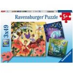 3 Puzzles - Unicorn, Dragon and Fairies