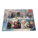 Bumper Pack 4 Puzzles - La Reine des Neiges