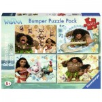 Bumper Pack 4 Puzzles - Vaiana