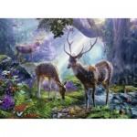 Puzzle   Cerfs dans la Forêt