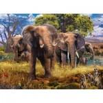 Puzzle   Famille d'Eléphants