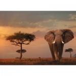 Puzzle   Nature Edition No 13 - Eléphant dans le Parc National du Masaï Mara