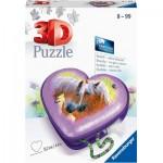 Puzzle 3D - Boîte Coeur - Chevaux