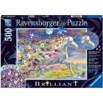 Puzzle Brillant - Licorne Papillon