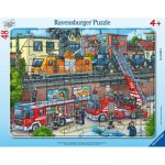 Puzzle Cadre - Firefighters in Action