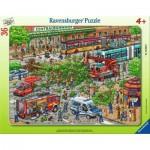 Puzzle Cadre - Intervention des Pompiers
