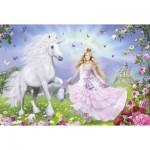 Puzzle  Schmidt-Spiele-55565 La princesse des licornes