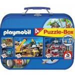 Schmidt-Spiele-55599 Valise Playmobil : 4 puzzles