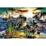 Puzzle  Schmidt-Spiele-56020 Playmobil : L'île aux pirates